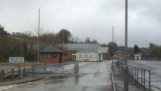 The former Royal Navy armaments depot at Trecwn