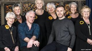 Writers Gary Barlow and Tim Firth met the original Calendar Girls in Burnsall