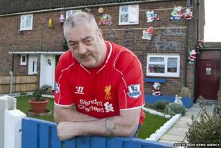 Kevin Franklin outside his Dunstable home