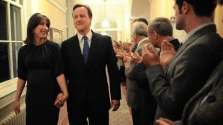 David and Samantha Camern entering Downing Street after the May 2010 general election