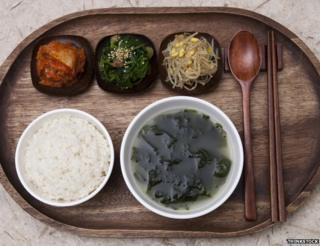 Bowl of seaweed soup