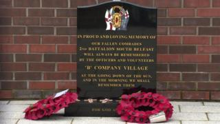 An Ulster Volunteer Force memorial stone has been erected inside the WW1 remembrance garden