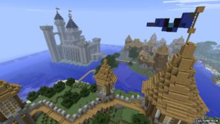 A screengrab from the Minecraft game