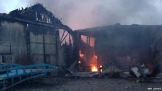 The fire at Midwinter Transport depot