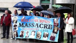 Relatives of those shot dead iby soldiers in Ballymurphy in 1971
