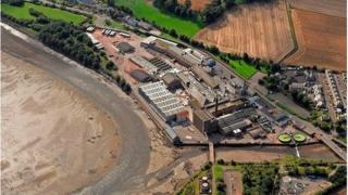 Aerial shot of the Guardbridge site