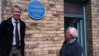 Norman Cornish's son John and son-in-law Mike Thonton