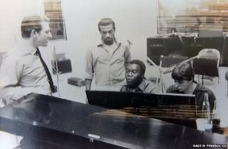 The Winstons in the recording studio, 1969
