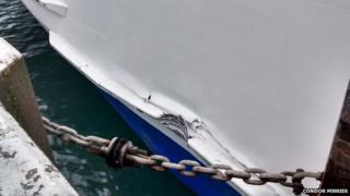 Condor ferry damage