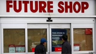 Closed Future Shop store in Calgary, Alberta