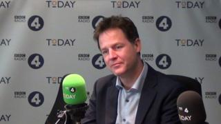Nick Clegg on Today