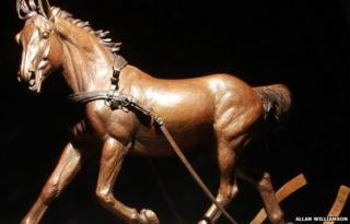 Statue of the planned horse