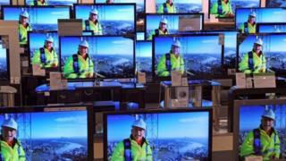 Digital TV screens