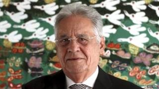 Former Brazilian President Fernando Henrique Cardoso poses in an interview with Reuters in Sao Paulo March 23, 201