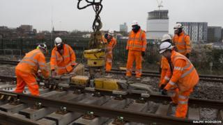 Railway engineers at Reading