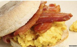 Bacon and egg muffin - generic