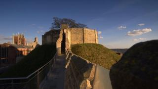 Lincoln Castle refurbished wall walk