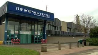The asbestos was found in an area of the centre not open to the public