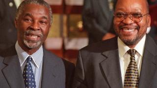 President Thabo Mbeki was joking with his then deputy president Jacob Zuma before the fall out.