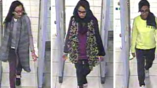 Three schoolgirls, caught on airport cameras, were believed to have travelled to Syria in February