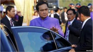 Gen Prayuth Chan-ocha in Bangkok (1 April 2015)