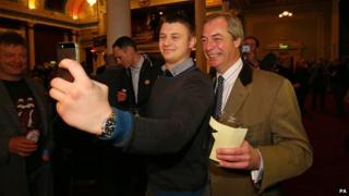Nigel Farage on the campaign trail in Thanet