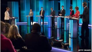 Party leaders at debate