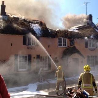 Fire at Clockhouse Inn