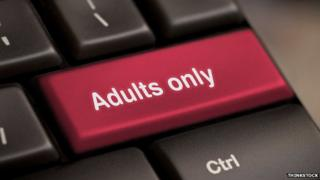 "Keyboard button on computer says ""Adults only"""