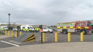 Emergency services at Inverness Airport