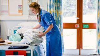 Hospital nurse on ward