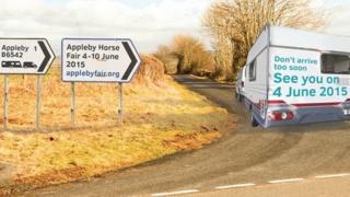 Appleby Horse Fair sign