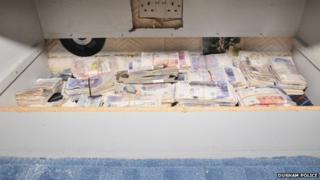 cash seized by Durham Police