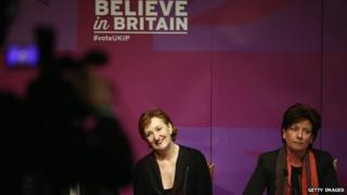 UKIP deputy chairman Suzanne Evans and Diane James