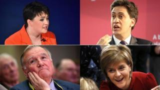 Ruth Davidson, Ed Miliband, Malcolm Bruce and Nicola Sturgeon