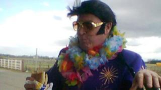 Elvis impersonator Martin Rice is preparing to help break the record