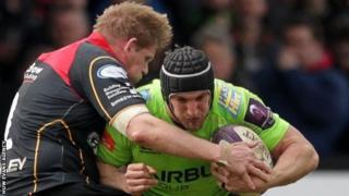 Sam Warburton a Rhys Thomas