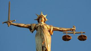 Lady Justice, at the top of the dome of the Central Criminal Court