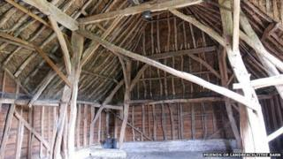 Interior Landbeach tithe barn