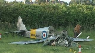 Scene of the plane crash