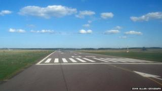 Runway at Inverness Airport