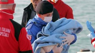 Images Libya migrants: Hundreds feared drowned in Mediterranean - BBC News 1