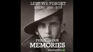 Picture of the Woolworths campaign for Anzac Day 2015