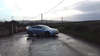 The alert is on the Ballyheather Road outside Strabane