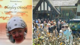 Mourners gather after Hayley's funeral