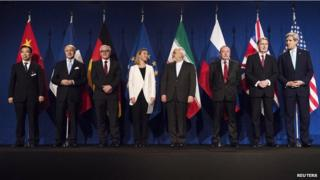 """The """"framework"""" of a future deal was announced by world leaders in Lausanne, Switzerland."""