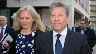 Neil Fox and his wife 16 April 2015
