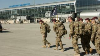 US troops arrive in Lviv, Ukraine