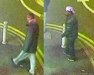 CCTV images of two men