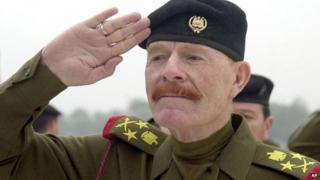 File photograph from 2002 of Izzat Ibrahim al-Douri